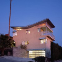 front elevation at dusk -photo by benny chan, fotoworks