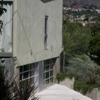 studio facade with view towards griffith park