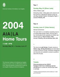 AIA los angeles, home tour 2004