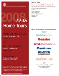 AIA / los angeles, home tour 2008