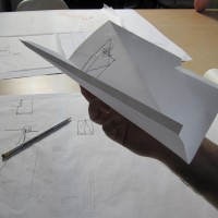 folded paper study model of ceiling